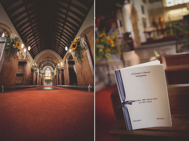 Wedding ceremony at St George's Church in Georgeham