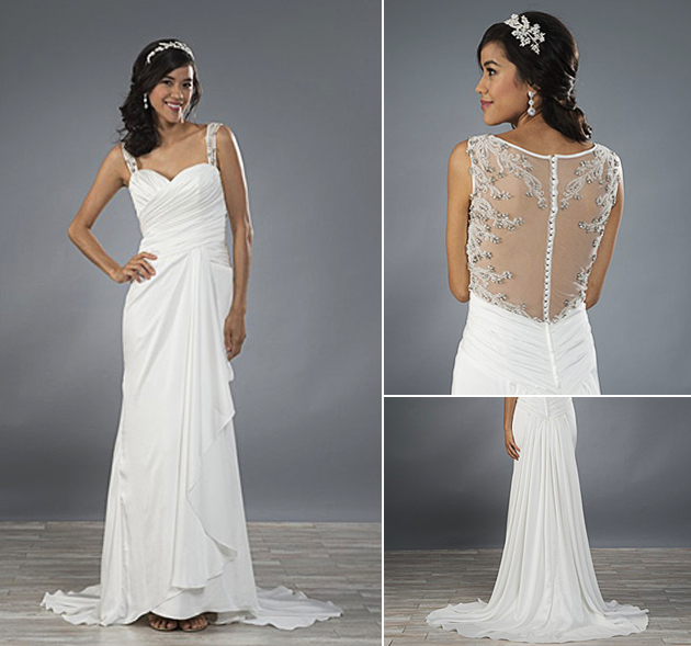 Alfred Angelo Style 2480 - Sheer and Sparkly Backs