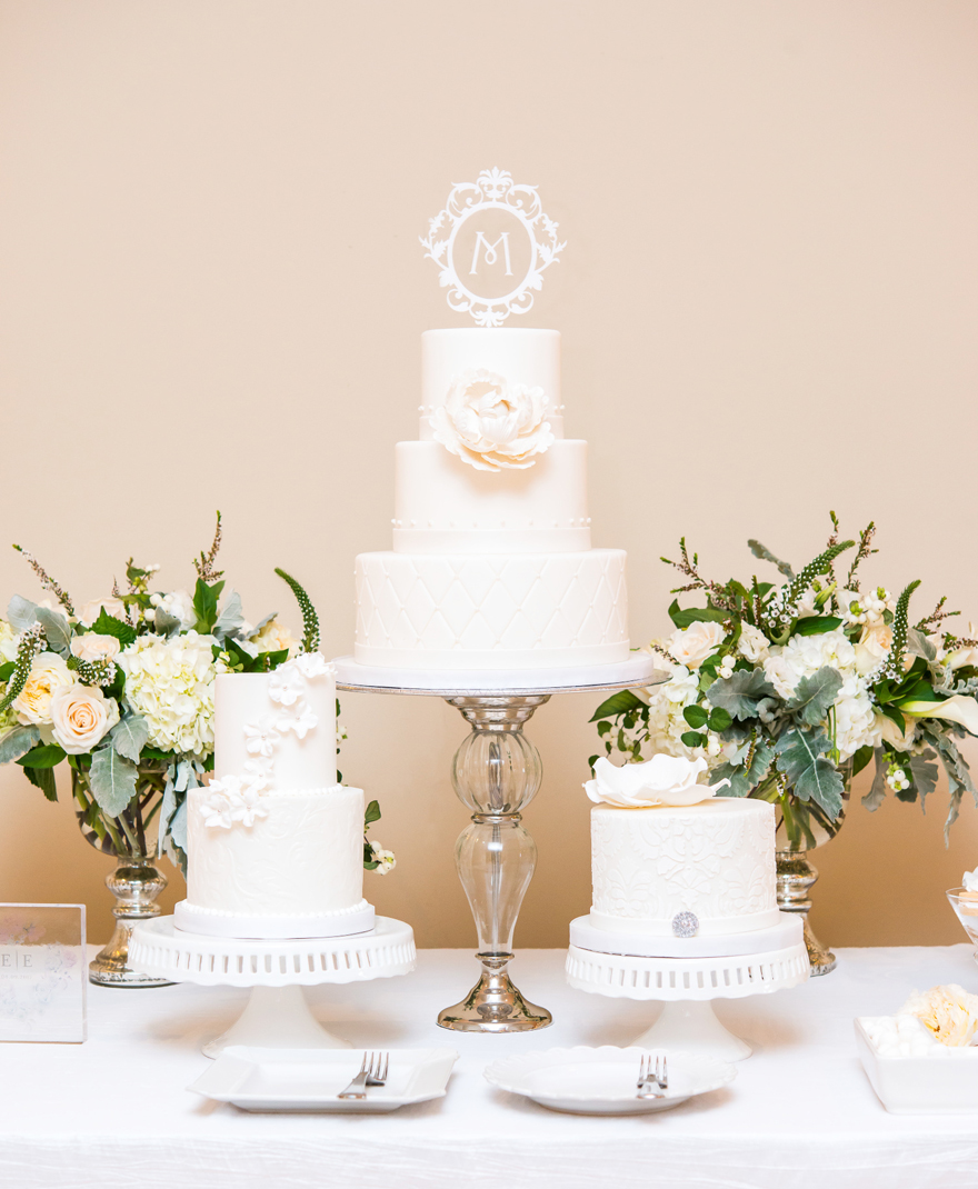 Classic White Tiered Wedding Cake Wedding Table Decorations | Confetti.co.uk