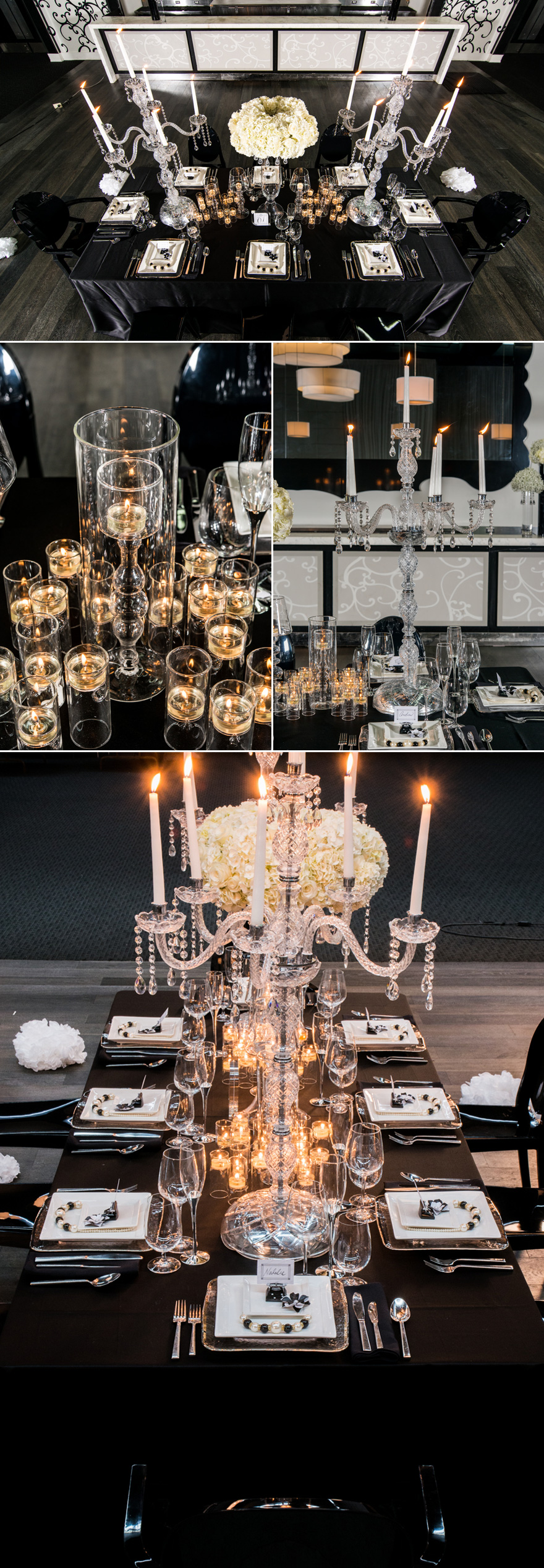 Crystal Glass Candelabra Glamorous Luxury Wedding Decor | Confetti.co.uk