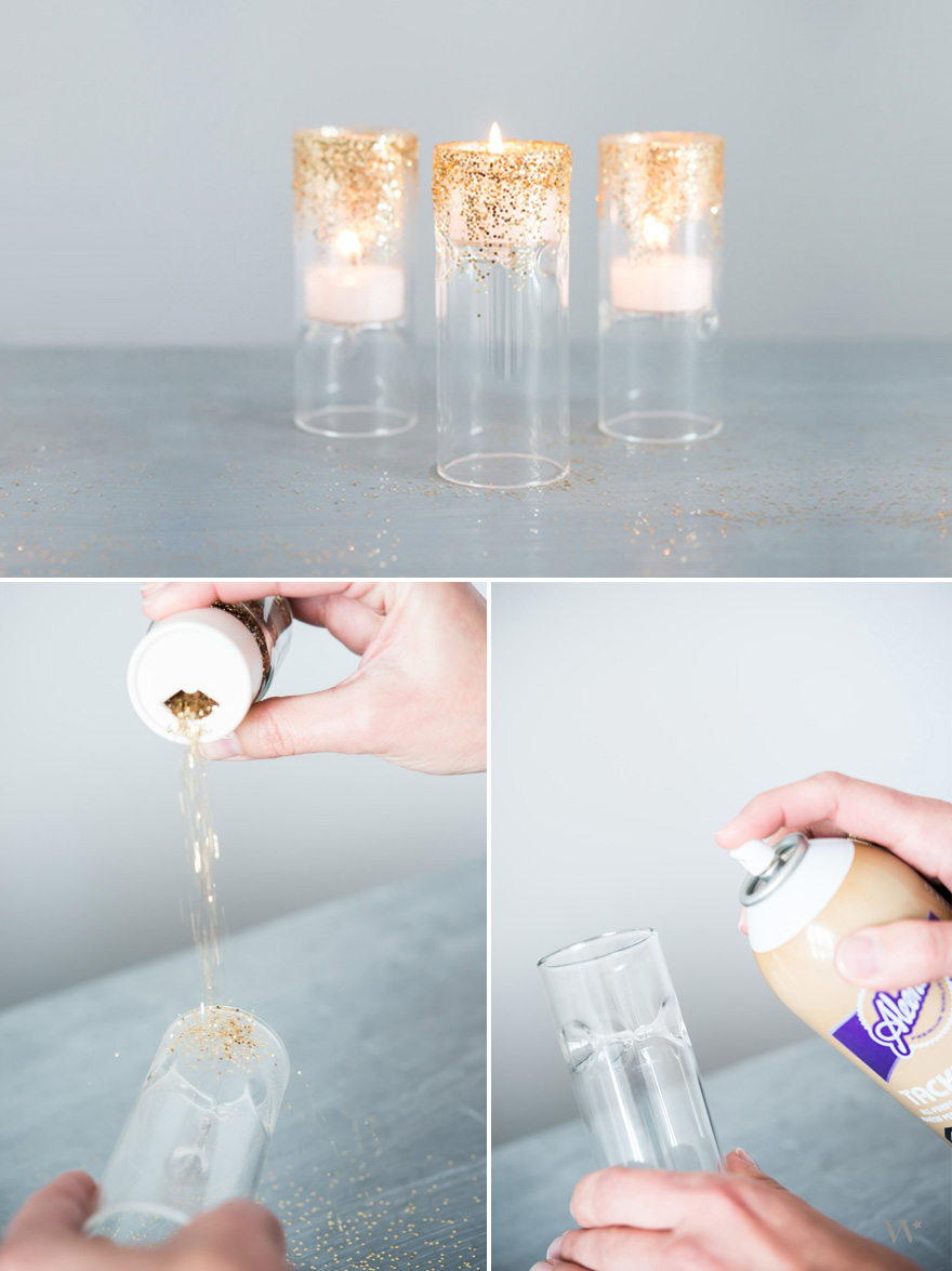 Gold Glitter DIY Tealights | Confetti.co.uk