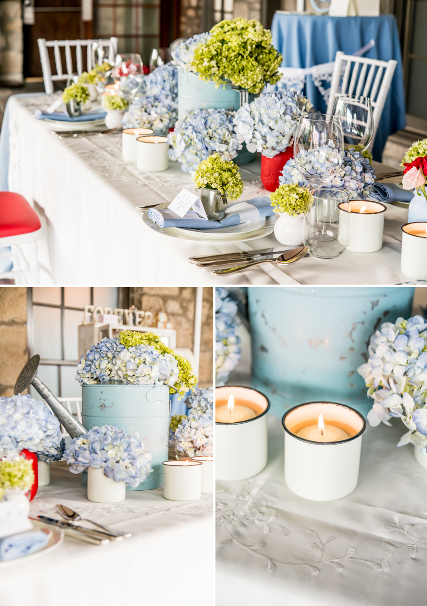 Pastel Blue Rustic Country Wedding Decor | Confetti.co.uk