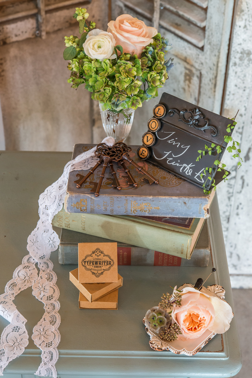 Pastel Vintage Shabby Chic Books and Flowers Wedding Centrepiece Ideas and Inspiration   Confetti.co.uk