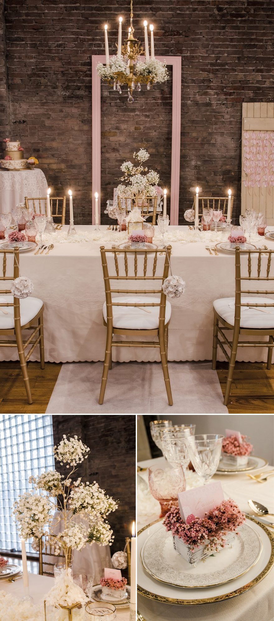 Romantic Pink and Gold Fairytale Wedding Reception Decor | Confetti.co.uk
