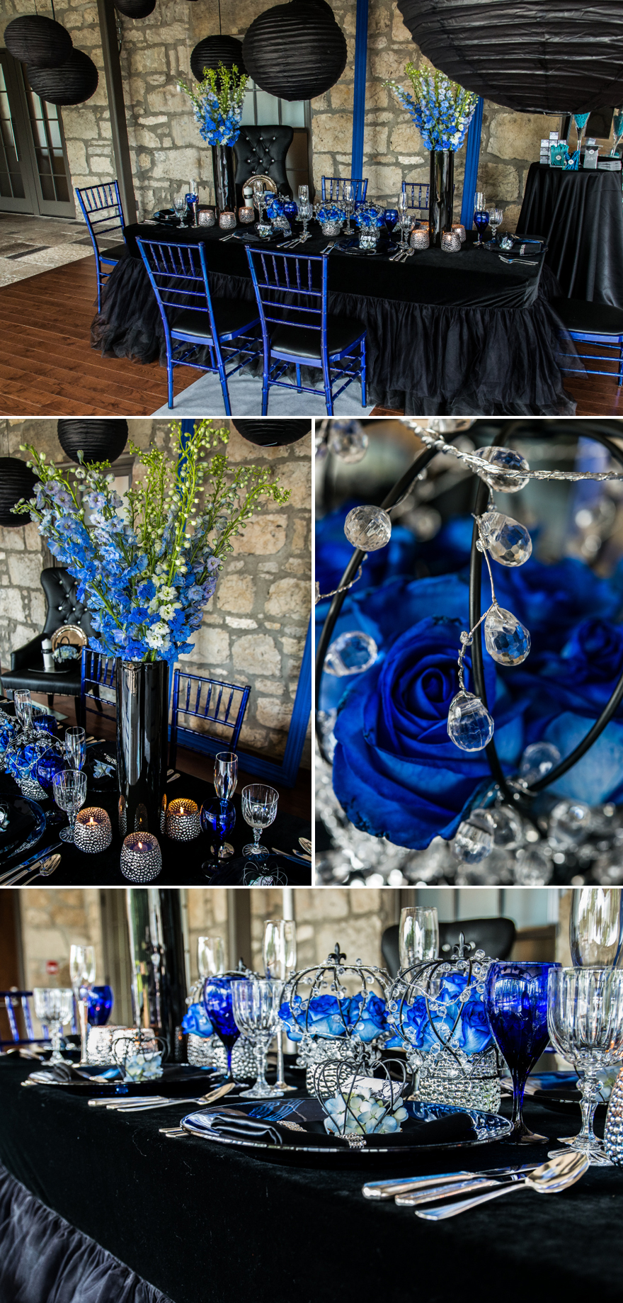 Royal Blue and Black Wedding Decorations | Confetti.co.uk