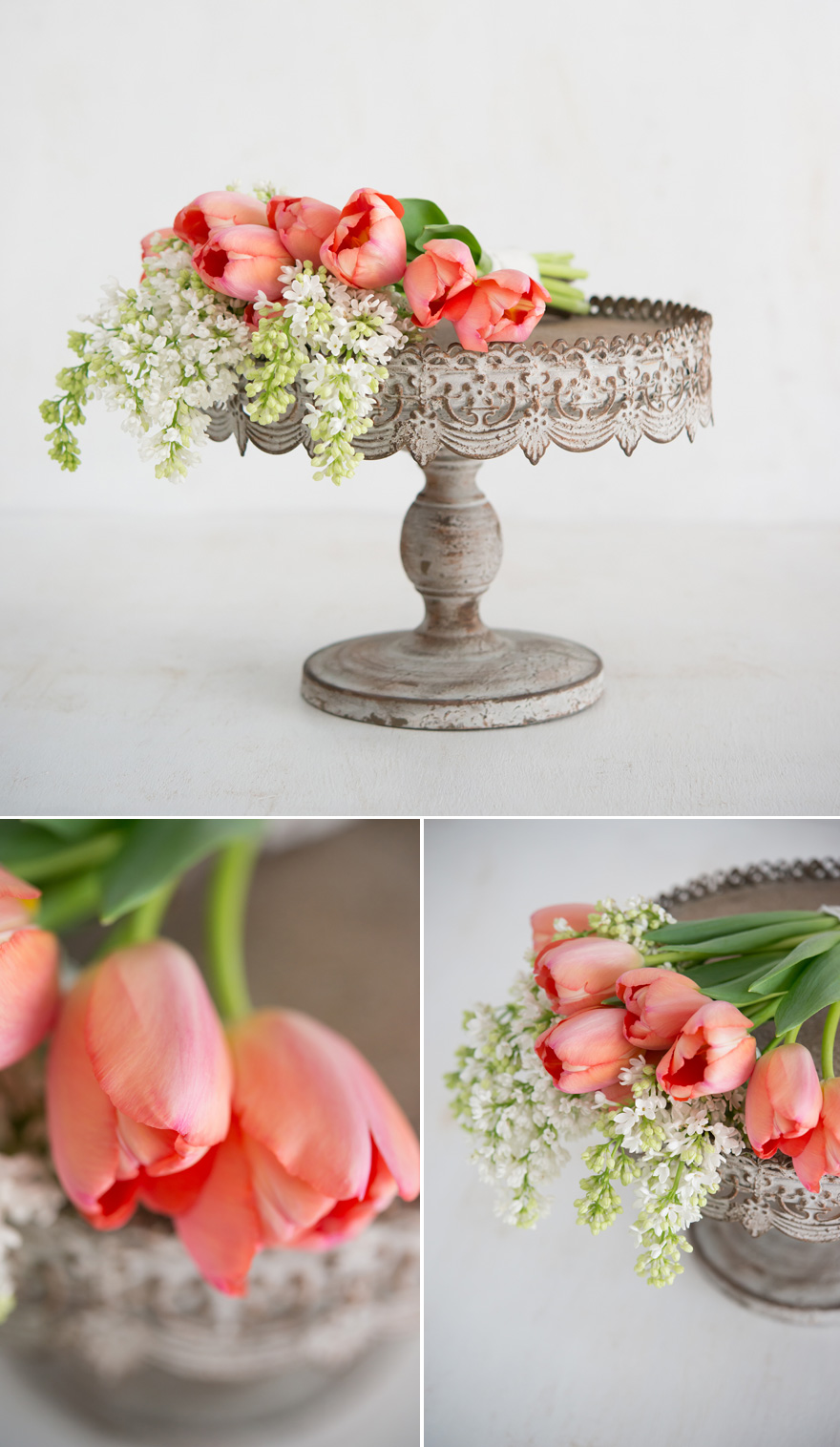 Spring and Summer Wedding Flowers White Lilac and Peach Tulips | Confetti.co.uk