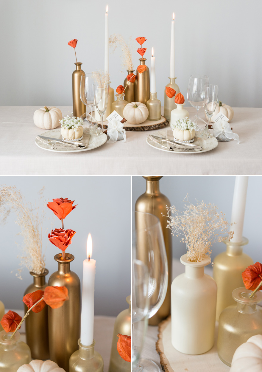 White and Gold DIY Autumn Wedding Decor | Confetti.co.uk