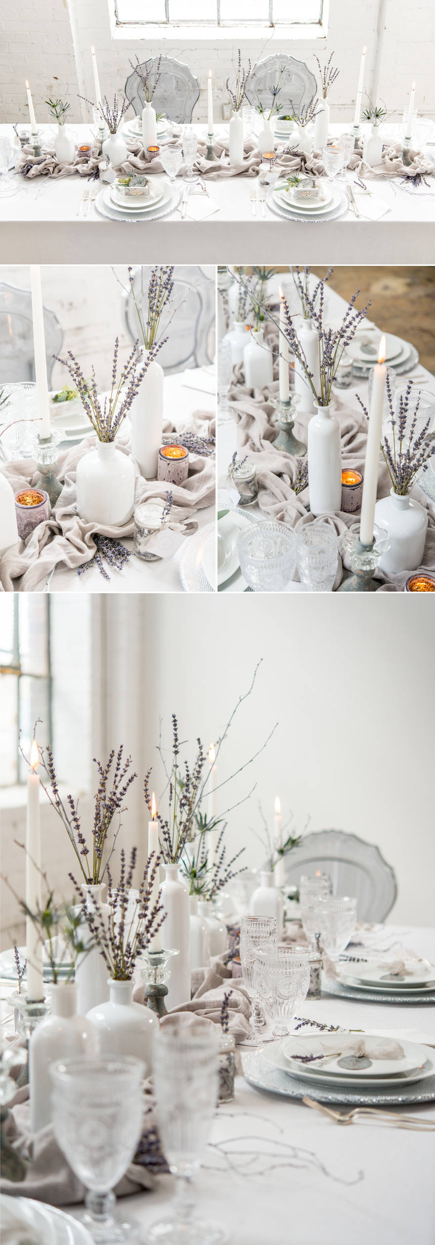Winter Wedding Reception Decor Ideas and Inspiration White and Lavender | Confetti.co.uk