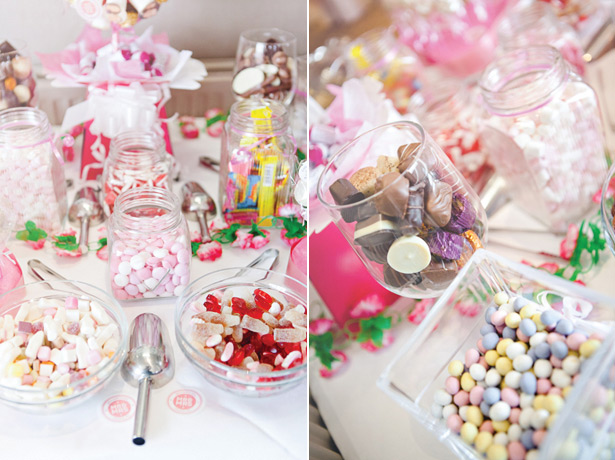 Candy table with retro sweets