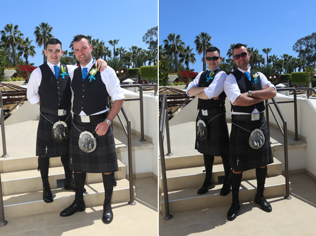 Groom and best man in kilts from Dalgleish Kilts