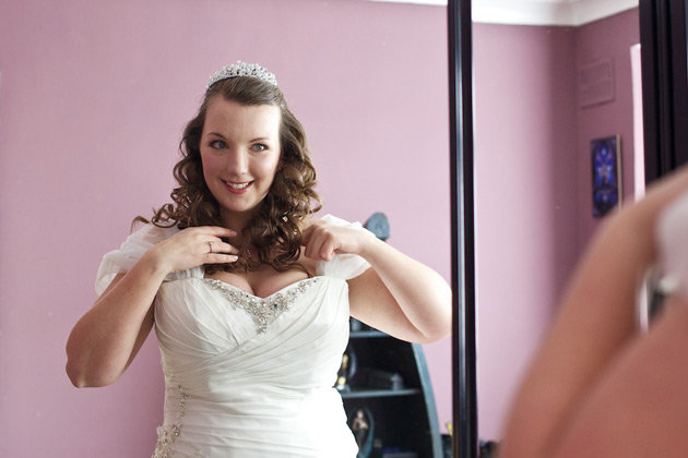The bride getting ready for her big day