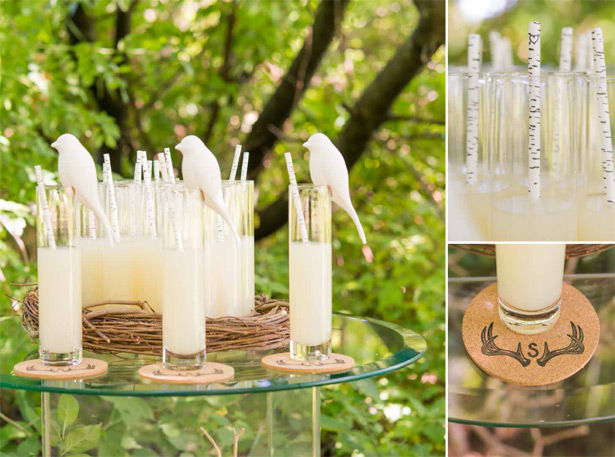 Nature Inspired Drink Accessories For The Wedding Reception