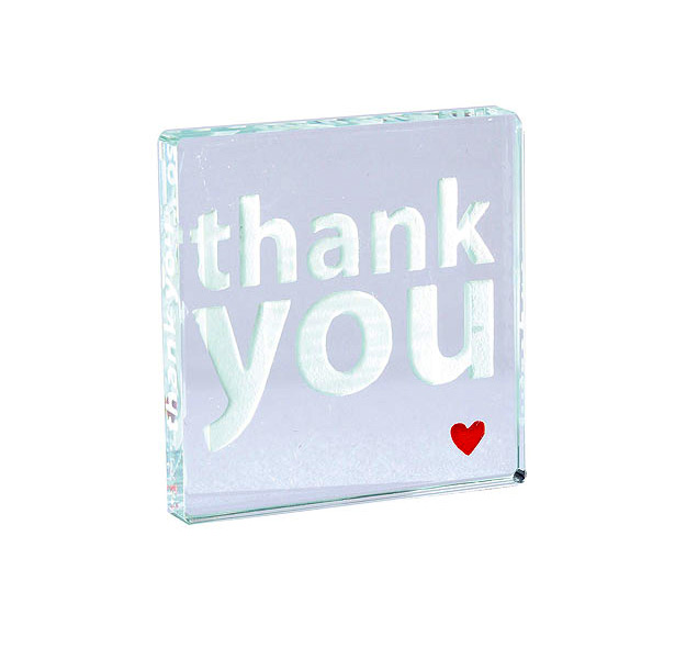Crystal thank you token
