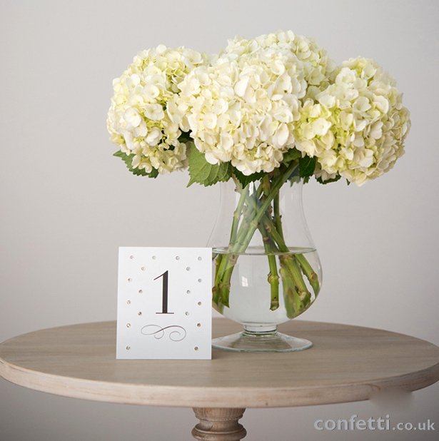 DIY Friday Place Numbers Flowers