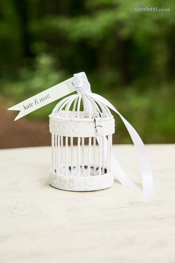 DIY Article White Birdcage Label