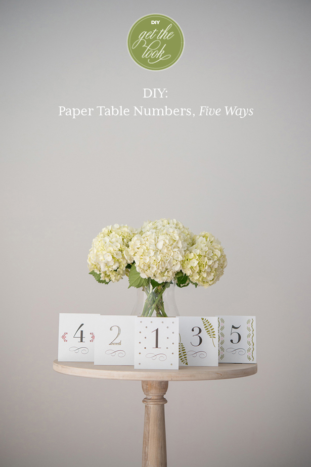 DIY Friday Paper Table Numbers