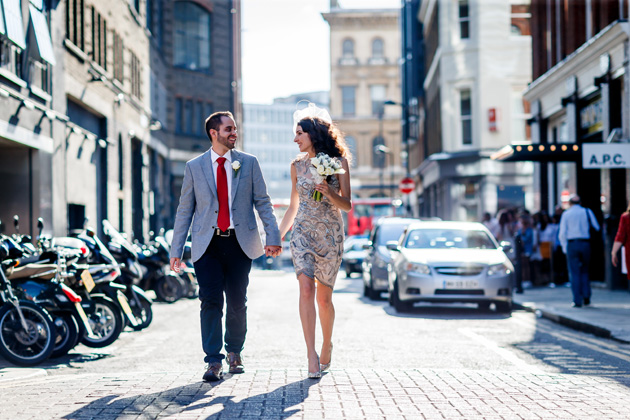Urban city wedding shoot by Douglas Fry | Confetti.co.uk