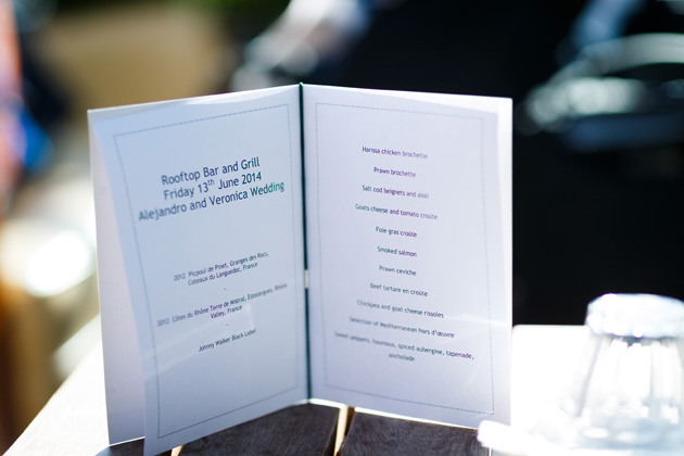 Wedding breakfast menu | Confetti.co.uk