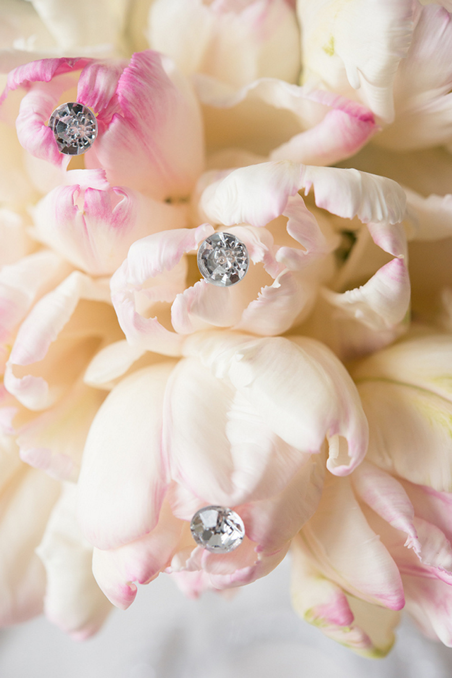 Pink and Cream Sparkling Wedding Flowers | Confetti.co.uk