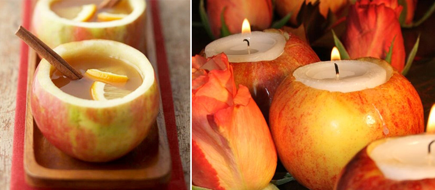 Autumn Apple Drinks and Candles | Confetti.co.uk