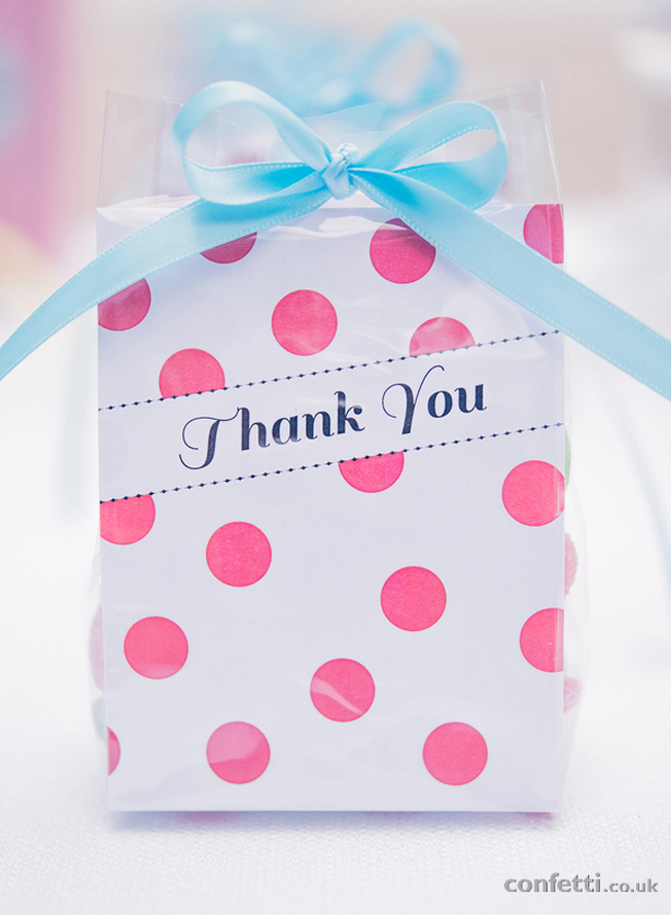 DIY Friday Dotty Favour Box Pink and Blue