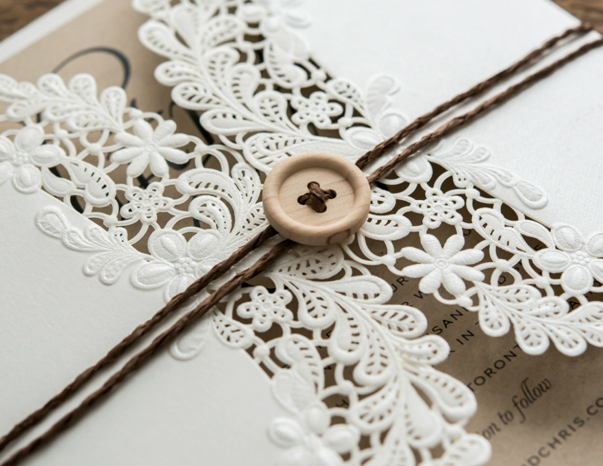 DIY Rustic Glam Wedding Stationery | Confetti.co.uk