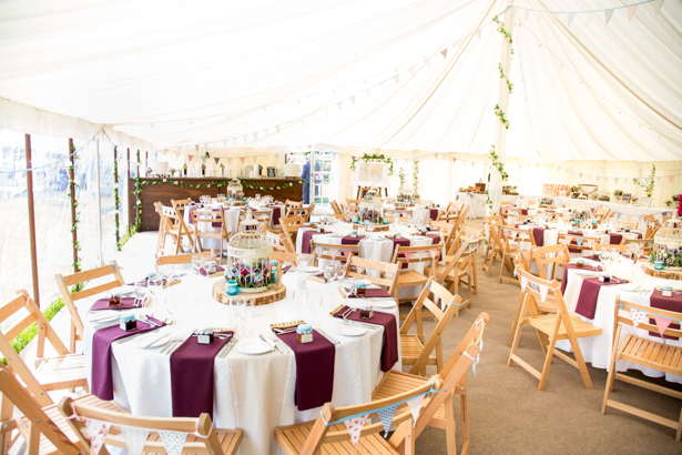 Rustic themed wedding in a marquee | Confetti.co.uk