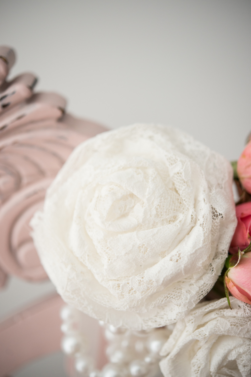 Pearls and Lace Flower | Confetti.co.uk