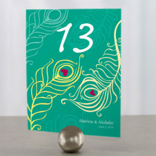 Perfect peacock table number