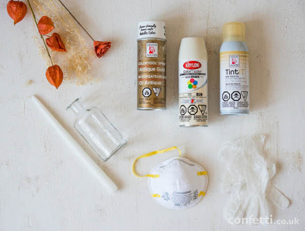 Supplies for DIY Wedding Glass Bottles | Confetti.co.uk