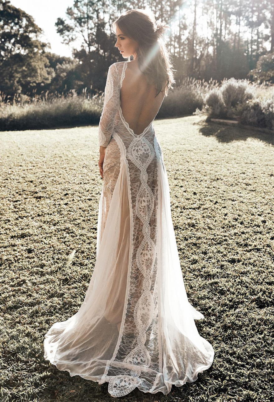 Inca Gown by Grace Loves Lace - Bohemian Lace Wedding Dresses - Floaty Wedding Dresses - Summer Lace Wedding Dresses | Confetti.co.uk