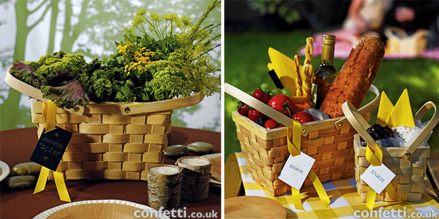 Picnic Baskets Wedding Decorations and Accessories | Confetti.co.uk