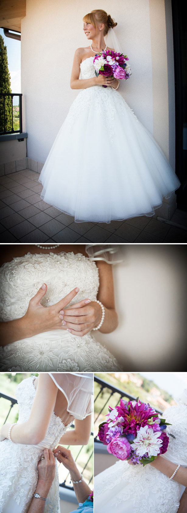 Real Bride in Justin Alexander Wedding Dress