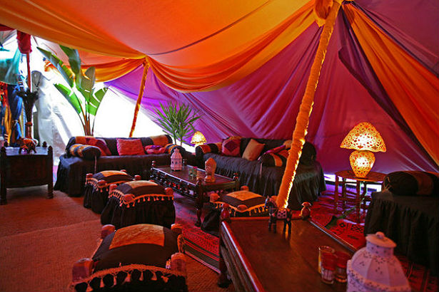 Orange and pink glow marquee by the Complete Chillout Company