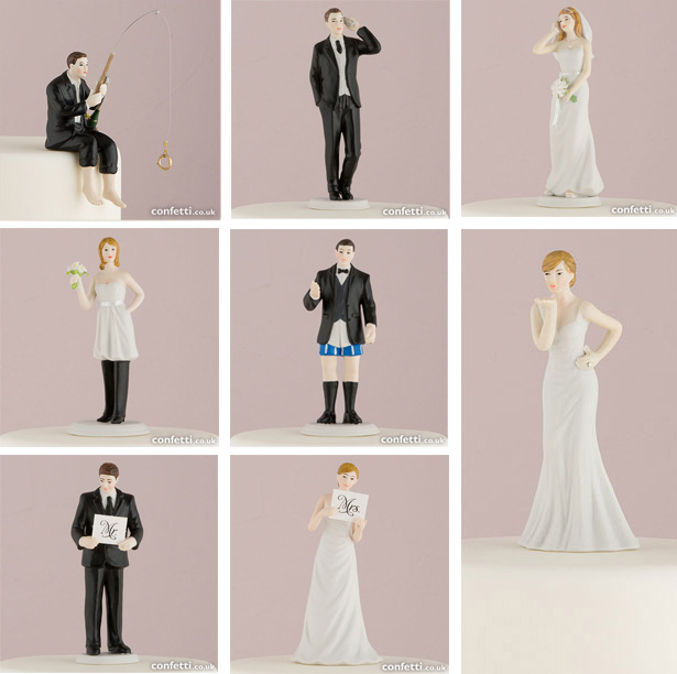 Interchangeable bride and groom cake toppers | Confetti.co.uk