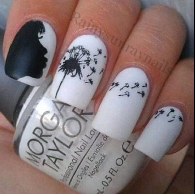 Blow your troubles away with this whimsical bridal nail art. | Confetti.co.uk