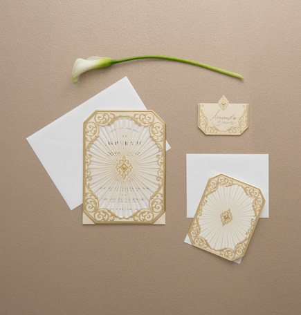 Art Deco Laser Embossed Invitations With Personalisation | Confetti.co.uk