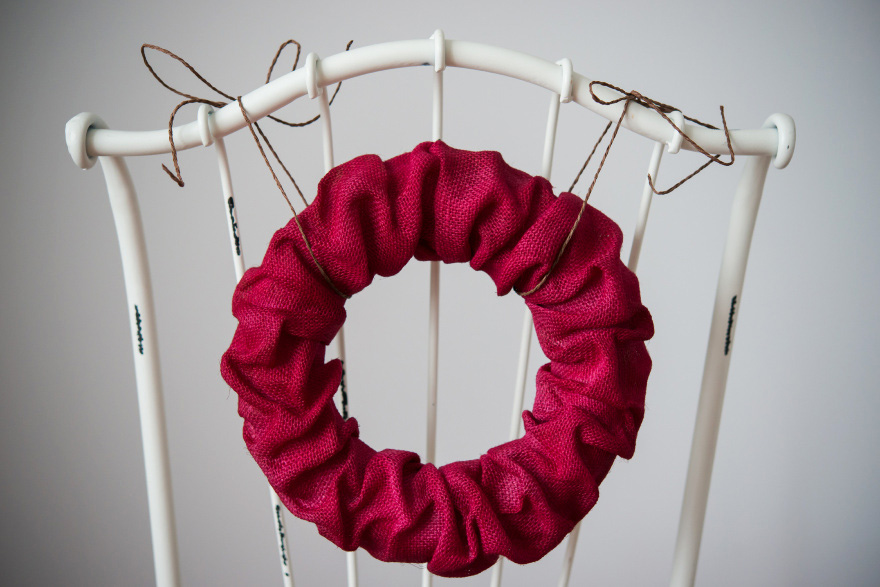 DIY Red Christmas Wreath | Confetti.co.uk