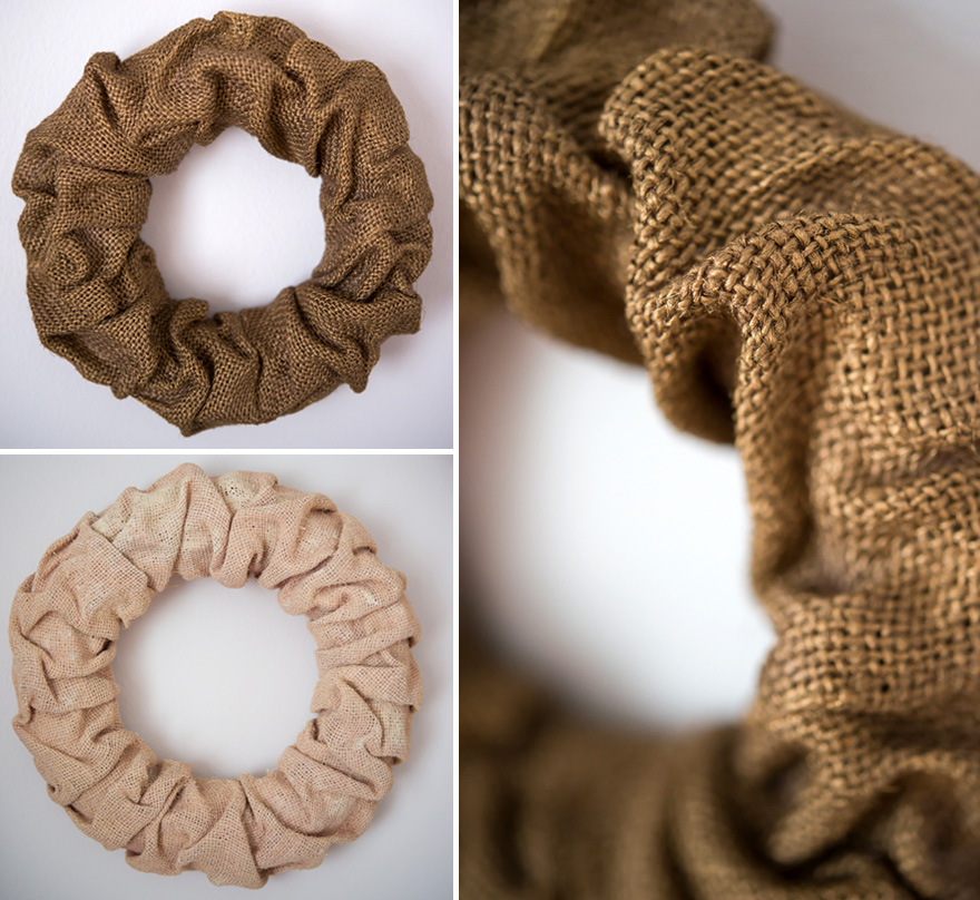 Spray Painted Wreaths - Pink, ivory, and gold DIY burlap wreaths | Confetti.co.uk