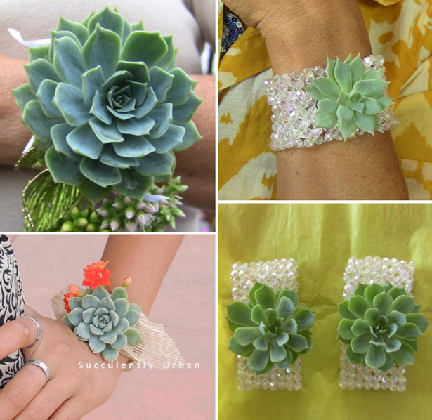 Small wedding succulents as bridesmaid and flower girl corsages | Confetti.co.uk