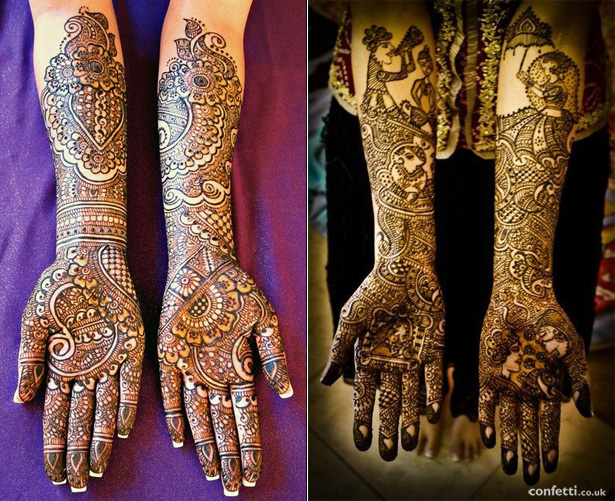 Detailed Bridal Mehndi | Confetti.co.uk