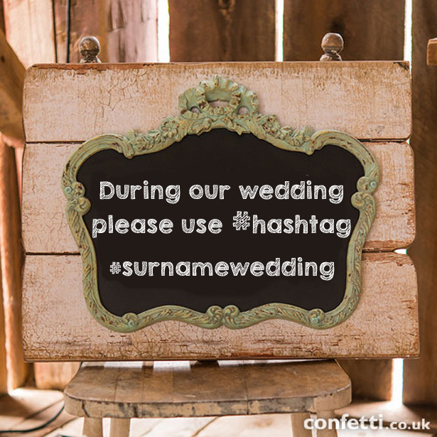 Vintage Chalkboard Mounted On Faux Wood | Wedding Worthy Selfie | Confetti.co.uk