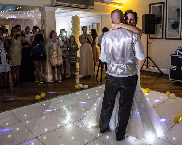 First dance to Come away with me by Nora Jones| Becki and Rob's Real Wedding By Jenny Martin Photography | Confetti.co.uk