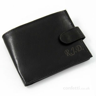 Christmas gift Personalised real leather wallet