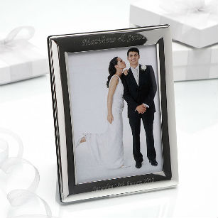 Christmas gift personalised small silver plated photo frame