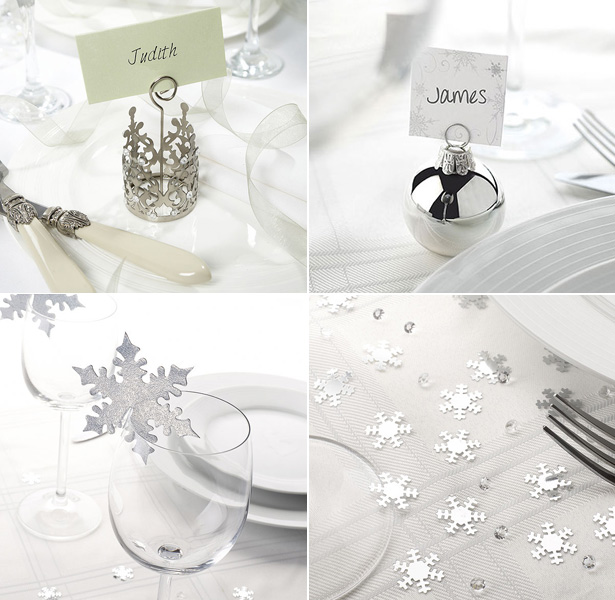 Silver Christmas table decor| Christmas table decor| First Christmas as Mr and Mrs | Confetti.co.uk