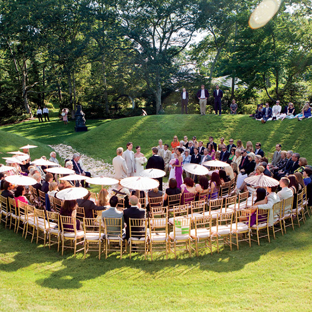 Horseshoe wedding ceremony seating | Confetti.co.uk