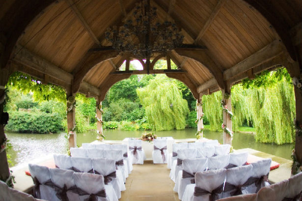 Water side wedding at the Dairy at Waddeson Manor