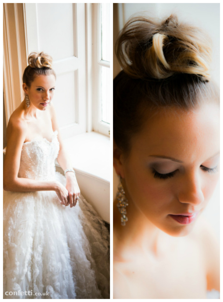 The soft elegant look of a winter bride from Confetti.co.uk