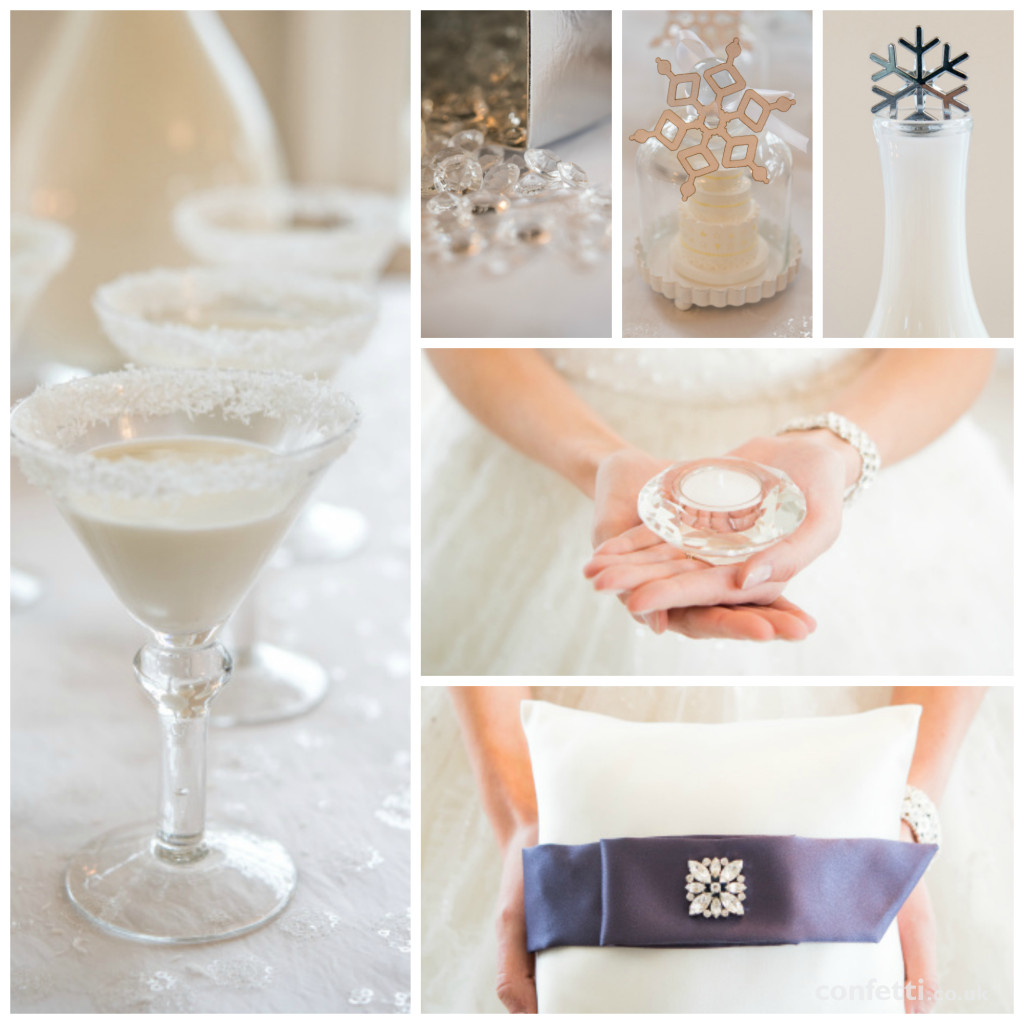 Winter wedding themed details from Confetti.co.uk